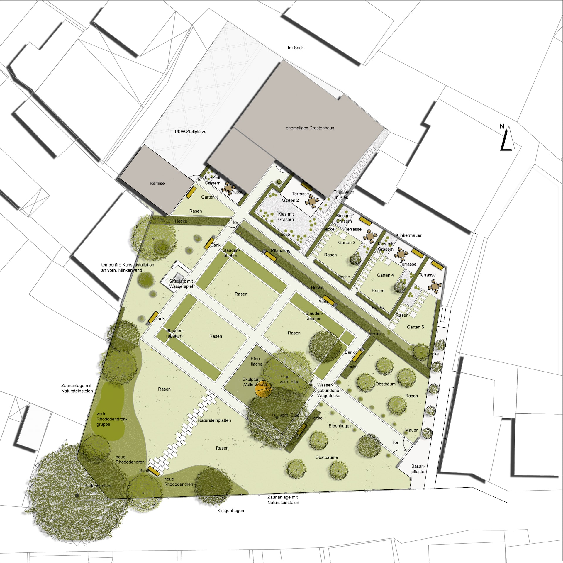 Drostengarten Plan